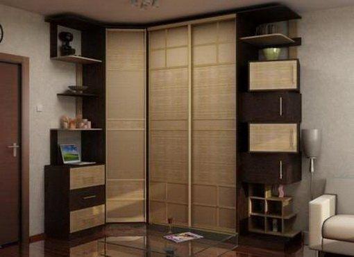 Дизайн углового шкафа фото
